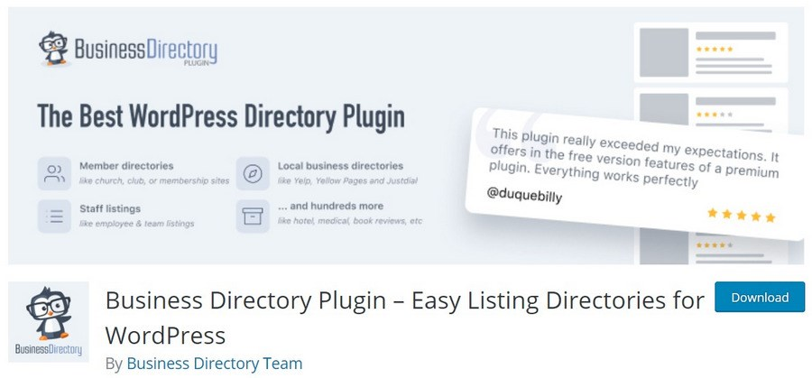 Business Directory Plugin Easy Listing Directories for WordPress