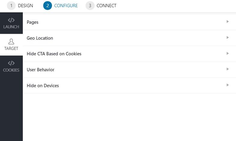 Convert Pro popup configuration 2