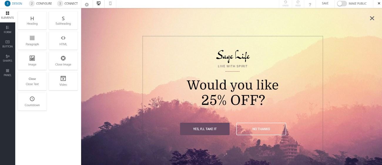 Design popup using Convert Pro