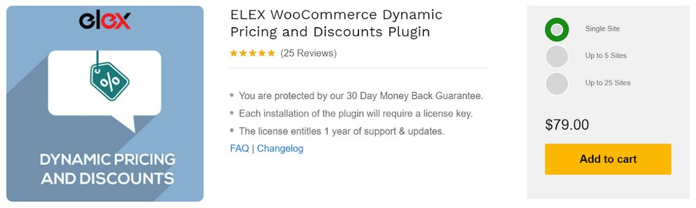 ELEX WooCommerce dynamic pricing and discount plugin WordPress