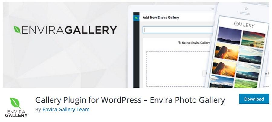 Envira Gallery free plugin