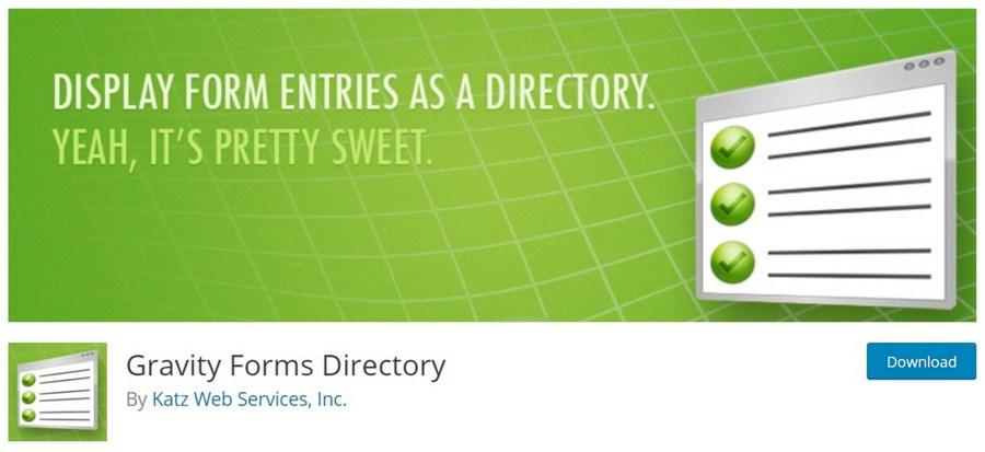 Gravity Forms Directory WordPress plugin
