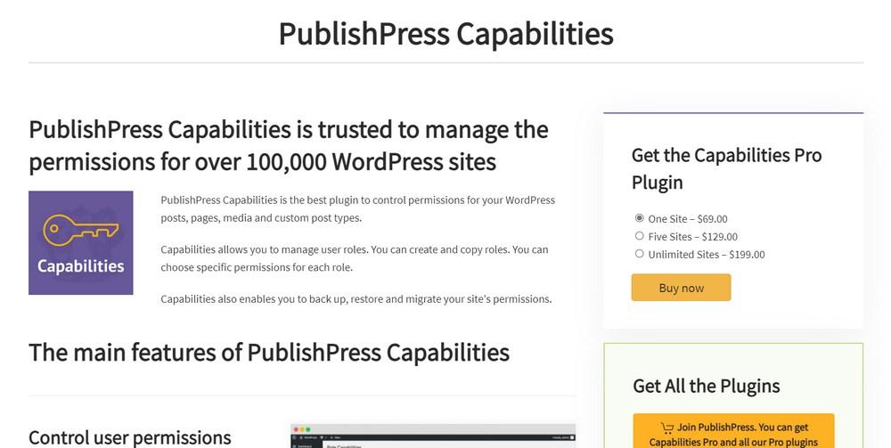 PublishPress Capabilities WordPress plugin
