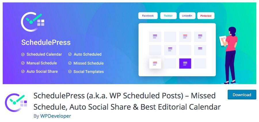 SchedulePress WordPress plugin