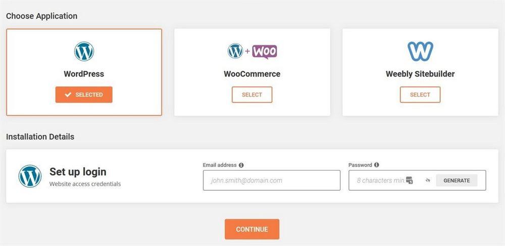 SiteGround WordPress installation