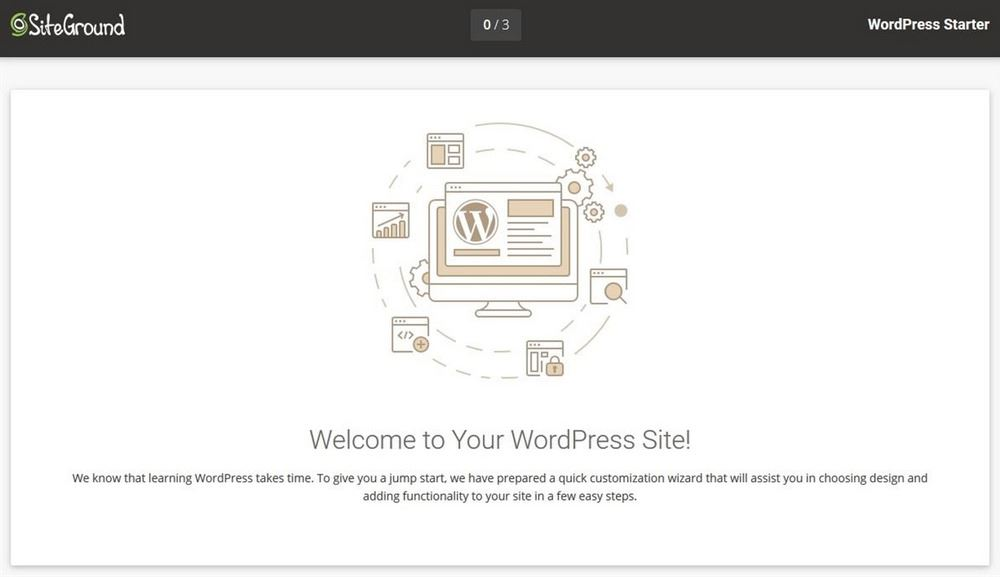 SiteGround welcome to WordPress site