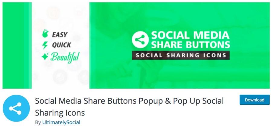Social Media share buttons WordPress