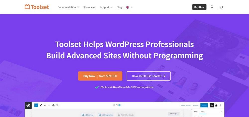 Toolset homepage