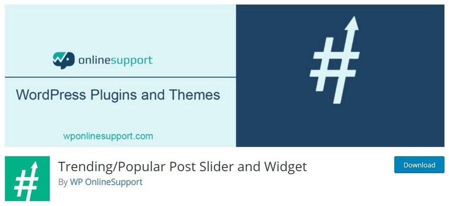Trending Popular Post Slider and Widget WordPress plugin