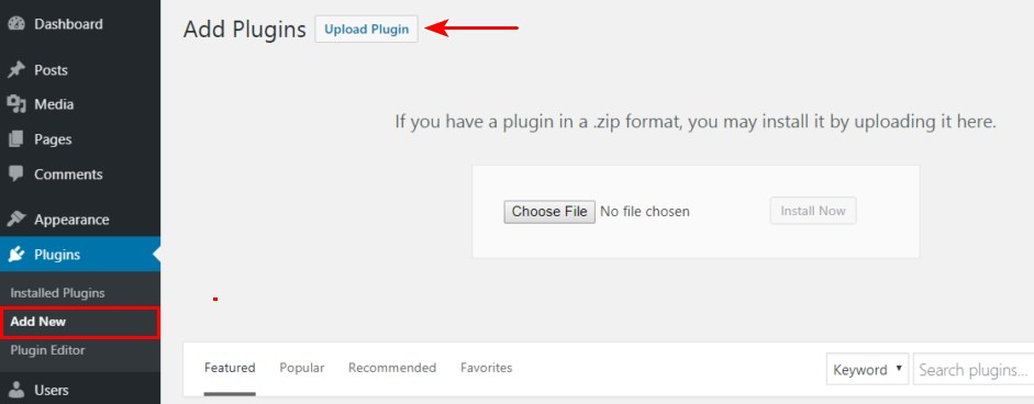 Upload plugin manually