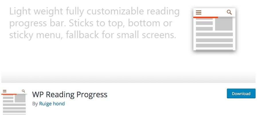 WP Reading Progress plugin