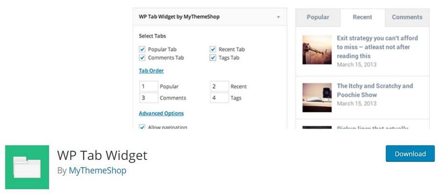 WP Tab Widget WordPress plugin