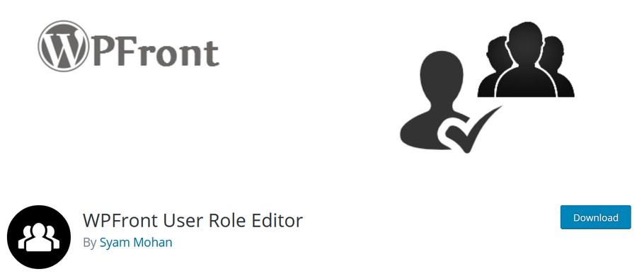 WPFront user role editor WordPress plugin