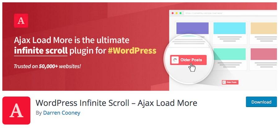 WordPress infinite scroll plugin