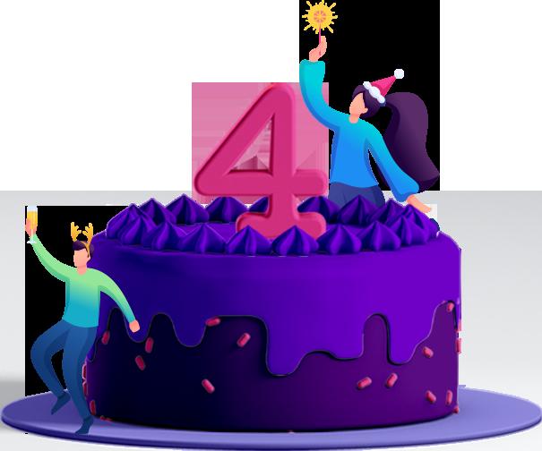 Astra 4th birthday cake