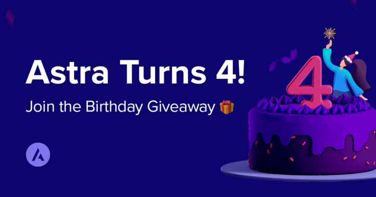 Astra 4th birthday - discounts and giveaway