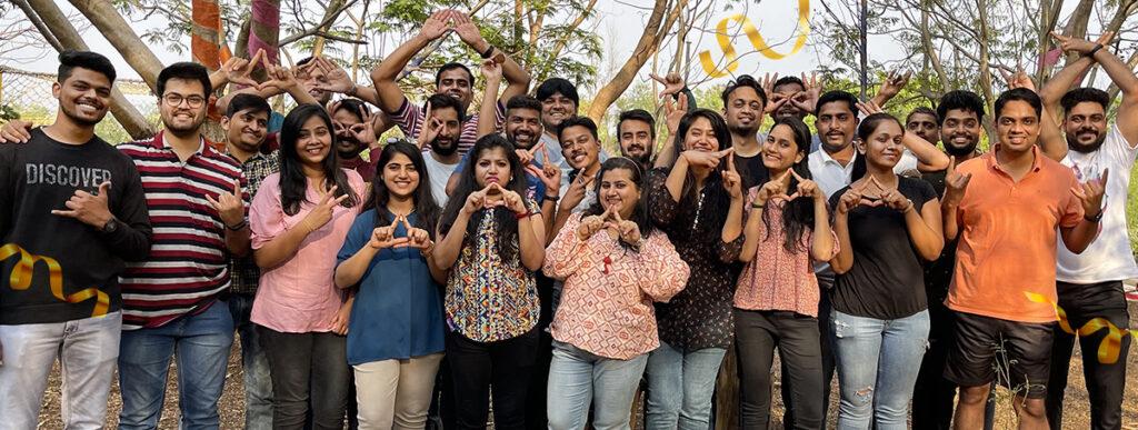 Astra Birthday - Team celebrating
