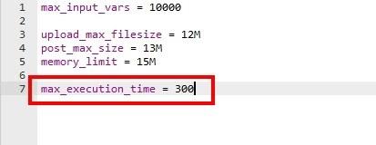 edit php.ini file