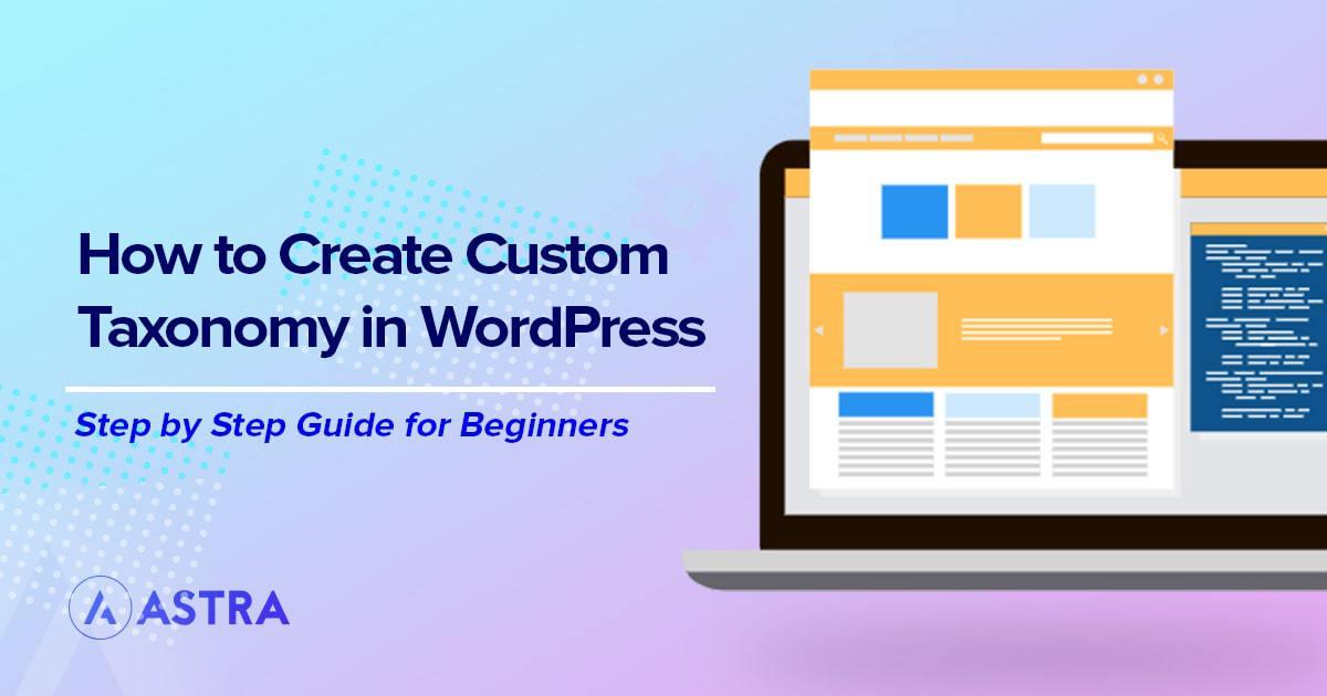 Create custom taxonomy in WordPress