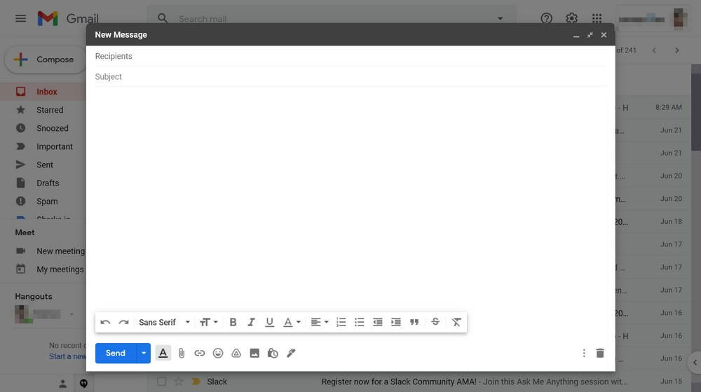 Gmail send email