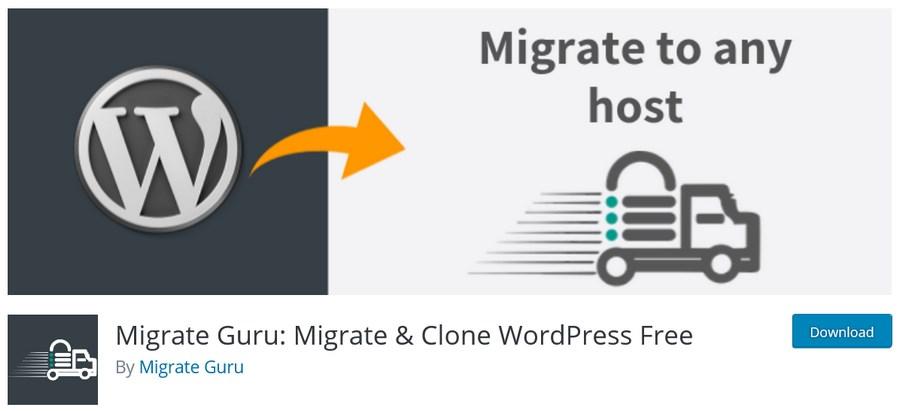 Migrate Guru Migrate Clone WordPress plugin