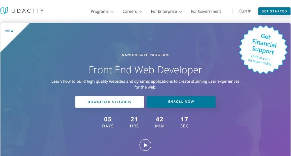 Udacity front end web developer course
