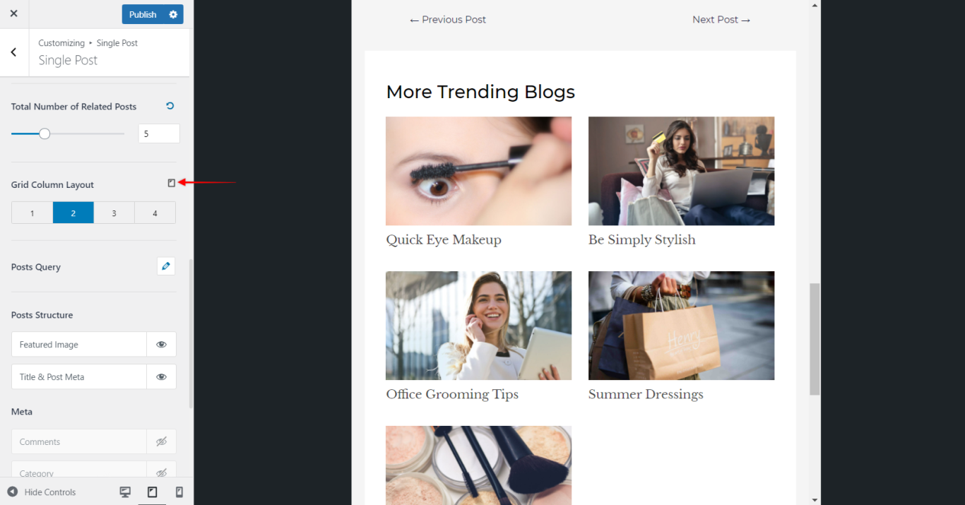 Astra Theme - Responsive Grid for Related Posts, Astra 3.0+
