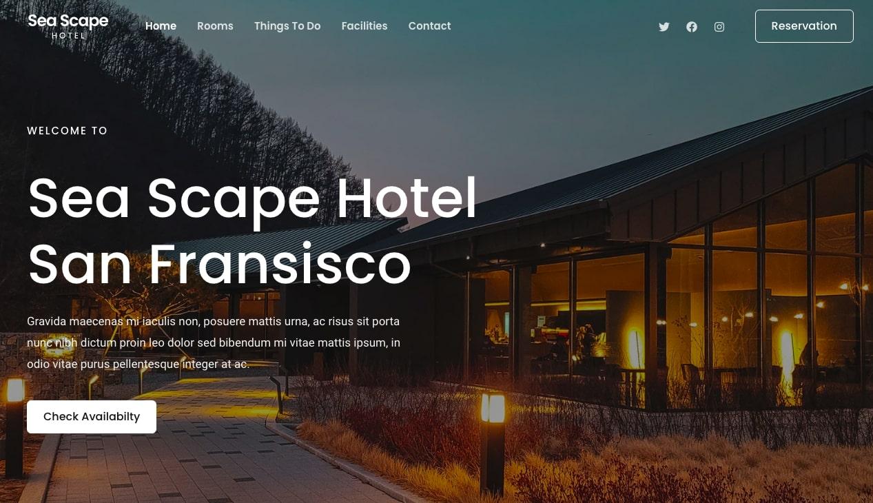 Hotel Starter Template