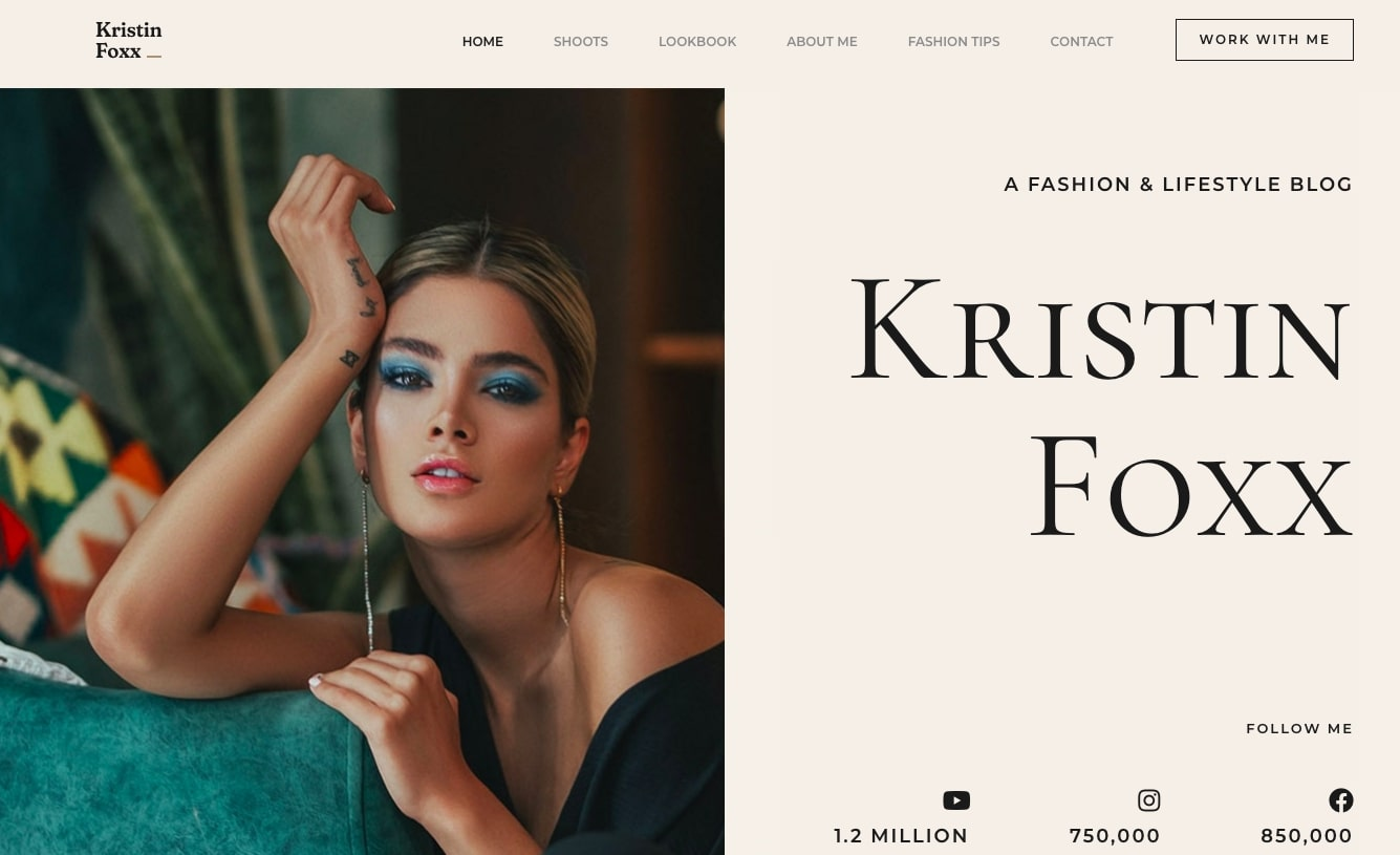 Fashion Influencer Starter Template