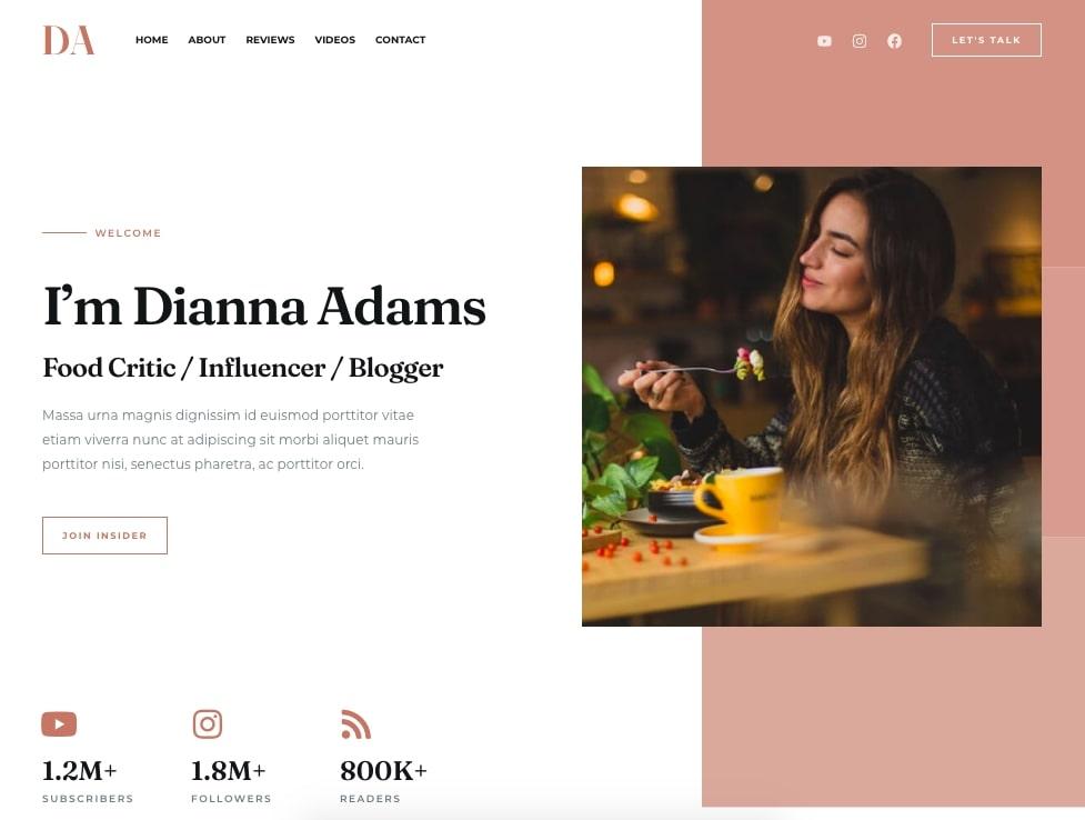 Food Blogger Starter Template