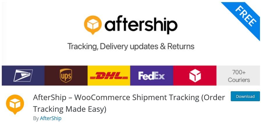 AfterShip WooCommerce Shipment Tracking plugin