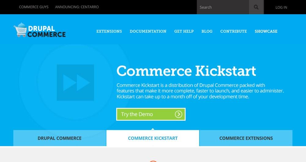 Drupal Commerce homepage