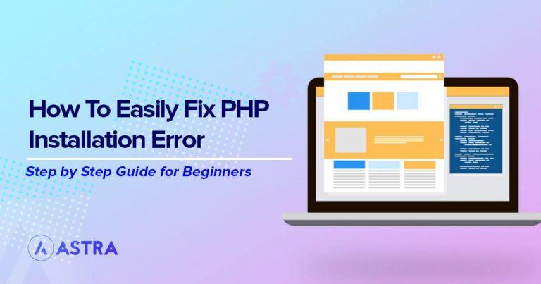 fix PHP installation error