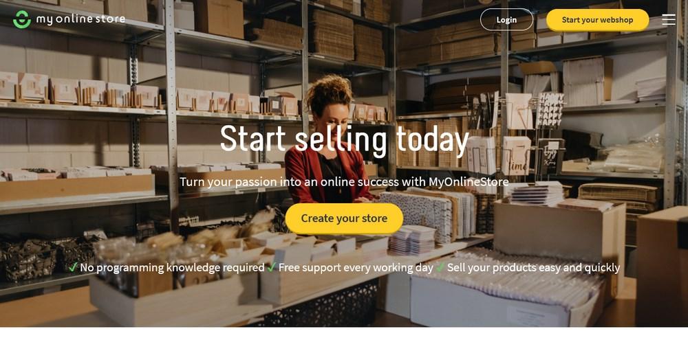 my online store homepage