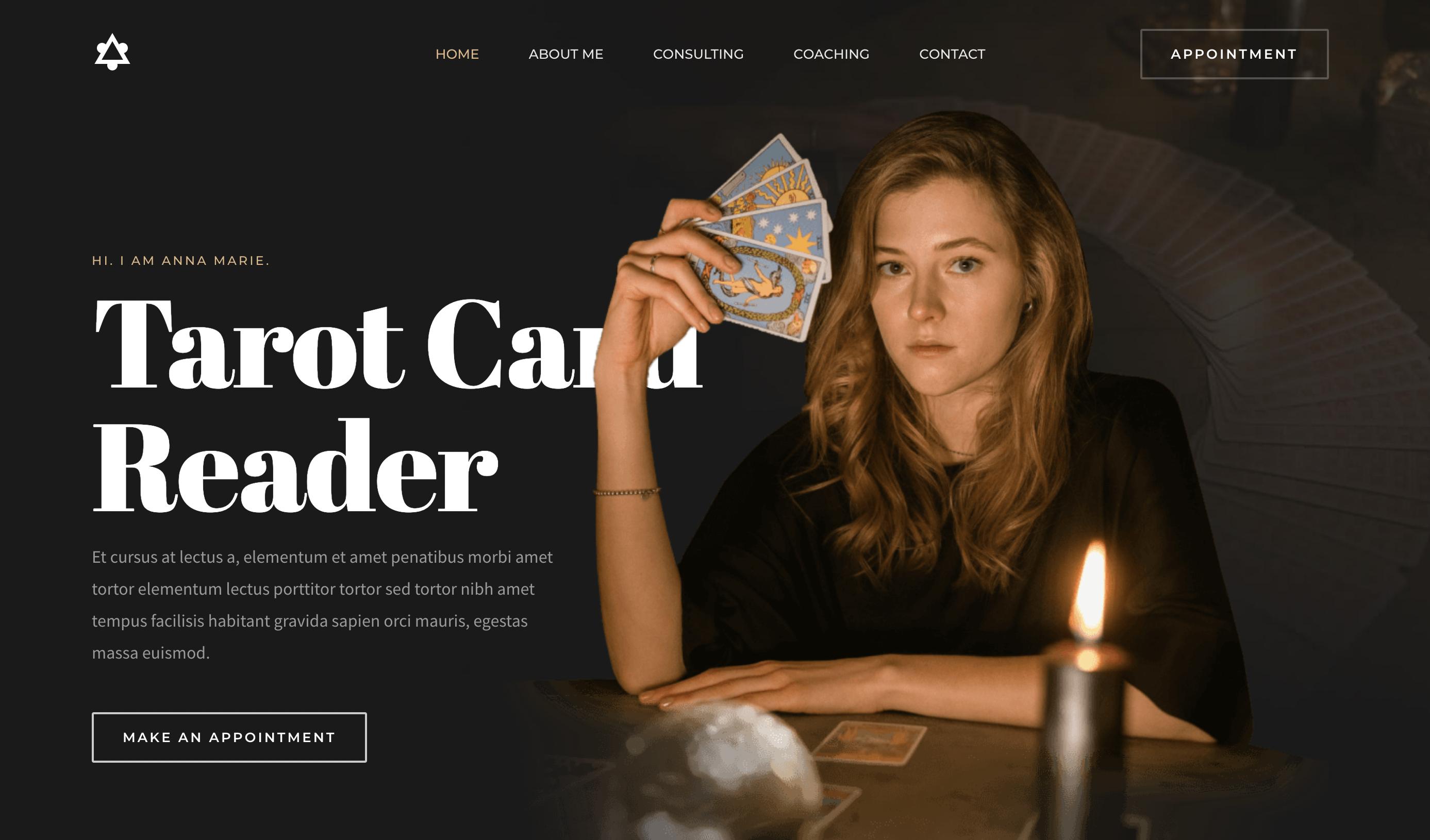 Tarot Card Reader Template