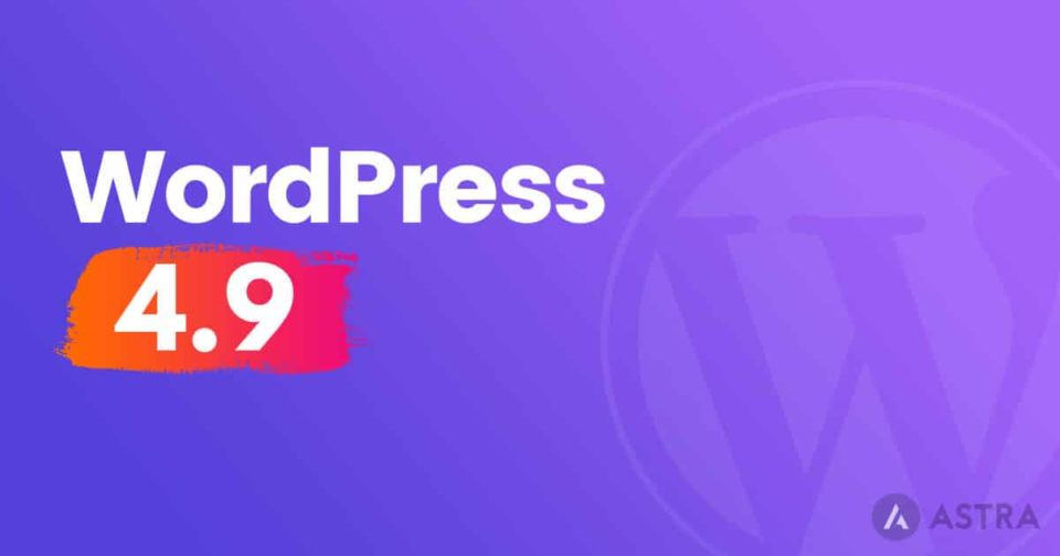 WordPress 4.9